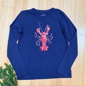 Girls VINEYARD VINES long sleeved lobster tee, M.